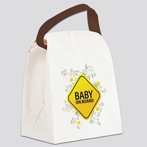 Baby on Board - Baby Canvas Lunch Bag