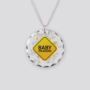 Baby on Board - Baby Necklace Circle Charm