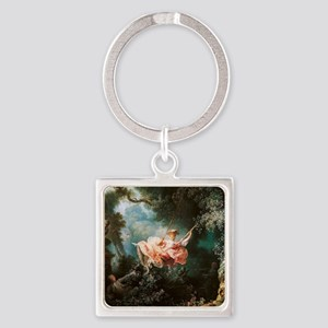 Jean-Honoré Fragonard The Swing Square Keychain