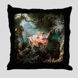 Jean-Honoré Fragonard The Swing Throw Pillow