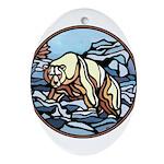 Polar Bear Art Ornament Wildlife Painting