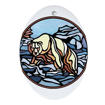 Polar Bear Art Ornament Wildlife Painting