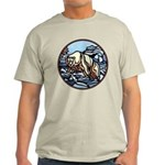 Polar Bear Art Light T-Shirt Native Bear Art Shirt