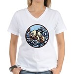 Polar Bear Art Women's V-Neck T-Shirt