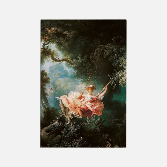 Jean-Honoré Fragonard The Swing Rectangle Magnet