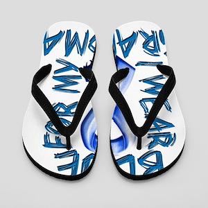 I Wear Blue for my Grandma Flip Flops