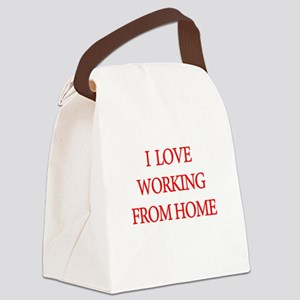 I Love Working From Home Canvas Lunch Bag