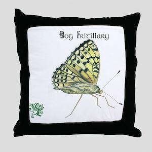Bog Fritillary Throw Pillow