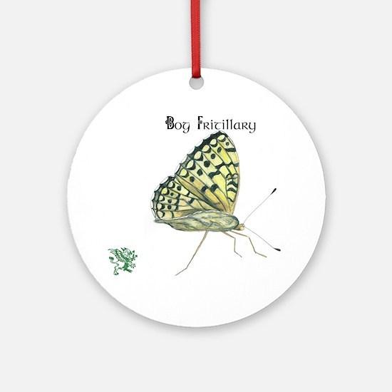 Bog Fritillary Round Ornament