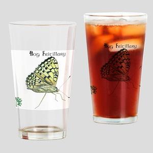 Bog Fritillary Drinking Glass