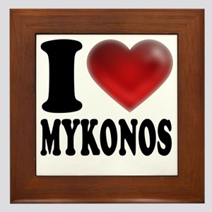 I Heat Mykonos Framed Tile