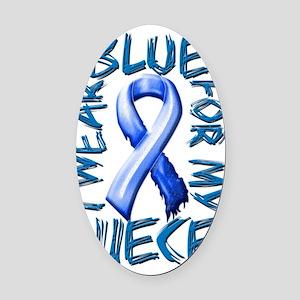 I Wear Blue for my Niece Oval Car Magnet