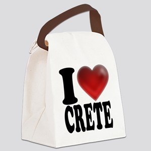 I Heart Crete Canvas Lunch Bag