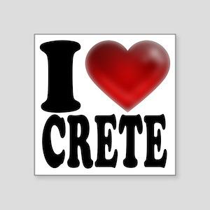 """I Heart Crete Square Sticker 3"""" x 3"""""""