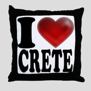 I Heart Crete Throw Pillow