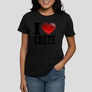 I Heart Crete Women's Dark T-Shirt