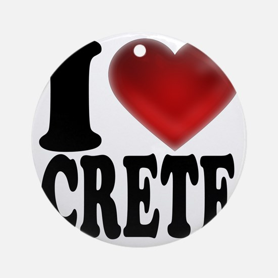 I Heart Crete Round Ornament