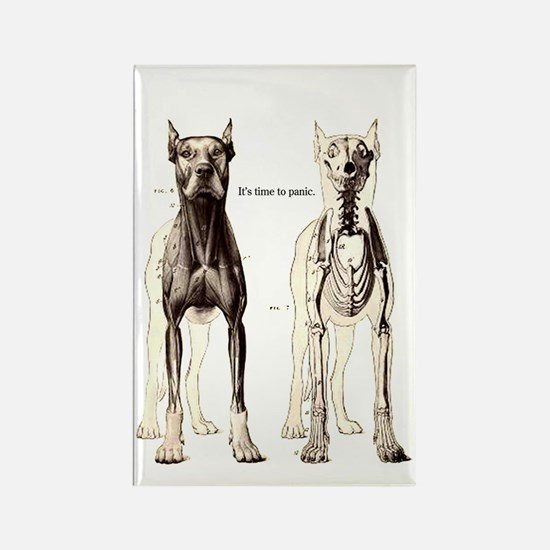 Sarcatic Dog Skeleton Rectangle Magnet