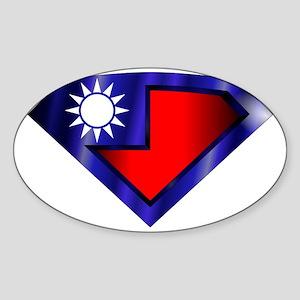 Super Taiwan Sticker (Oval)