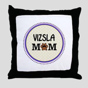 Vizsla Dog Mom Throw Pillow