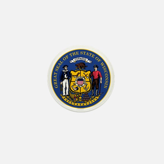 Wisconsin State Seal Mini Button
