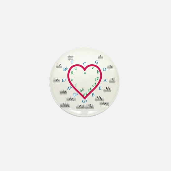 The Heart of Fifths Mini Button