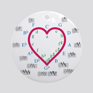The Heart of Fifths Round Ornament