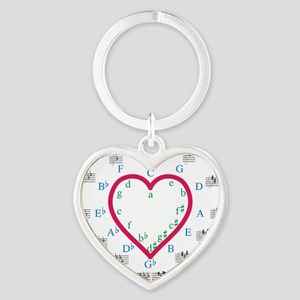 The Heart of Fifths Heart Keychain