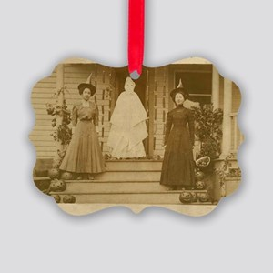 Vintage Halloween Photograph Witc Picture Ornament