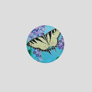 Yellow Swallowtail Mini Button