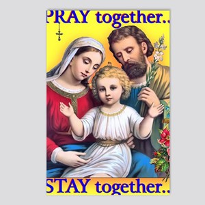 Family Prays - Yellow Bac Postcards (Package of 8)