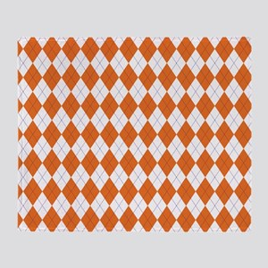 Clemson Argyle Sock Pattern Throw Blanket