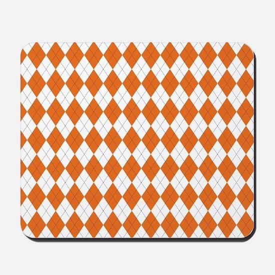 Clemson Argyle Sock Pattern Mousepad