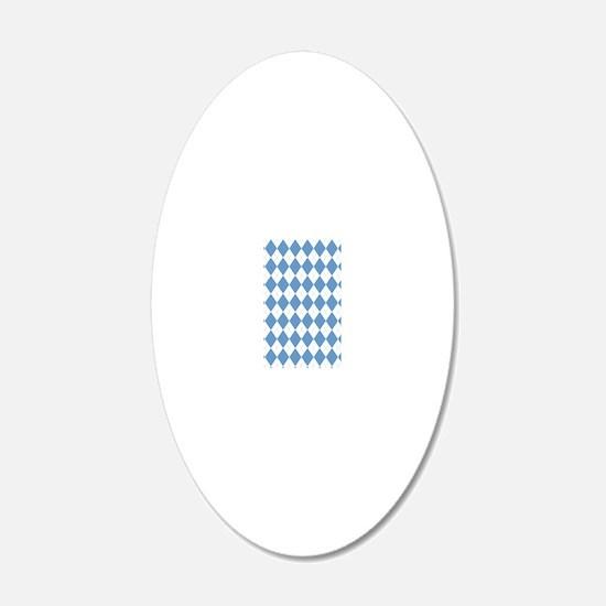 Carolina Blue Argyle Sock Pa Wall Decal