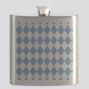 Carolina Blue Argyle Sock Pattern North Caro Flask