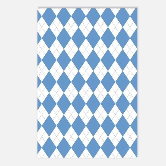 Carolina Blue Argyle Sock Postcards (Package of 8)
