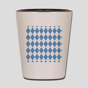 Carolina Blue Argyle Sock Pattern North Shot Glass