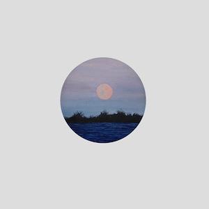 Moonrise at the Lake Mini Button