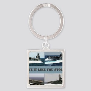 Drive it like you stole it Square Keychain