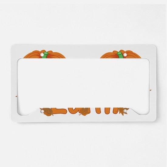 Halloween Pumpkin Edith License Plate Holder