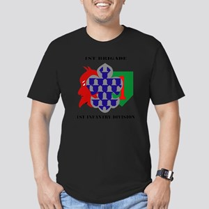 1st Brigade, 1st Infan Men's Fitted T-Shirt (dark)