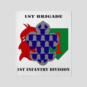 1st Brigade, 1st Infantry Division w Throw Blanket