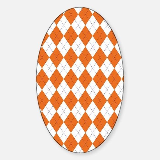 Clemson Argyle Sock... Sticker (Oval)