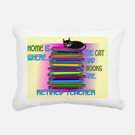 Retired teacher blanket  Rectangular Canvas Pillow