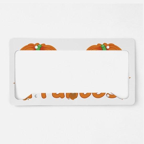 Halloween Pumpkin Frances License Plate Holder