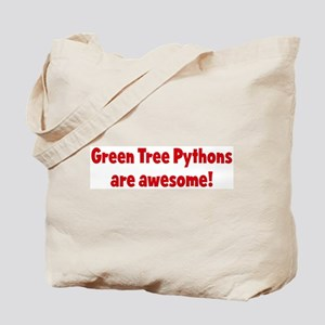 Green Tree Pythons are awesom Tote Bag