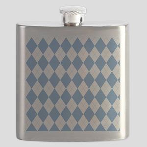 Carolina Blue Argyle Sock Pattern North Caro Flask