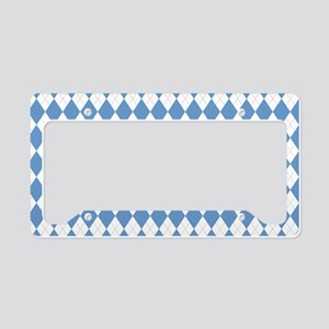Carolina Blue Argyle Sock Pat License Plate Holder