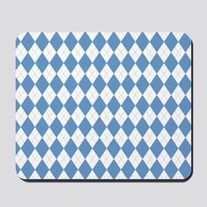 Carolina Blue Argyle Sock Pattern Mousepad