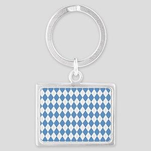Carolina Blue Argyle Sock Patte Landscape Keychain